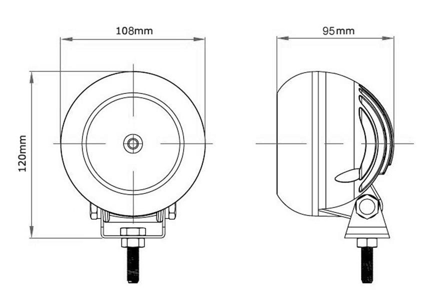 4 inch round led driving lights 12v Bulk Buy lumens JINCHU