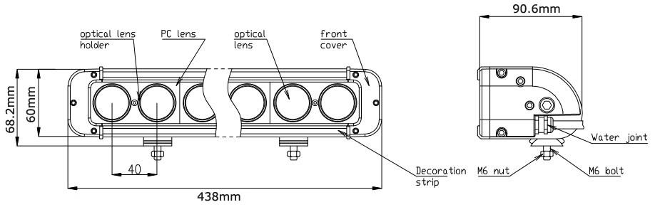 JC10118S-100W Super Bright Cree 17inch High Quality 100W LED Light Bar-2
