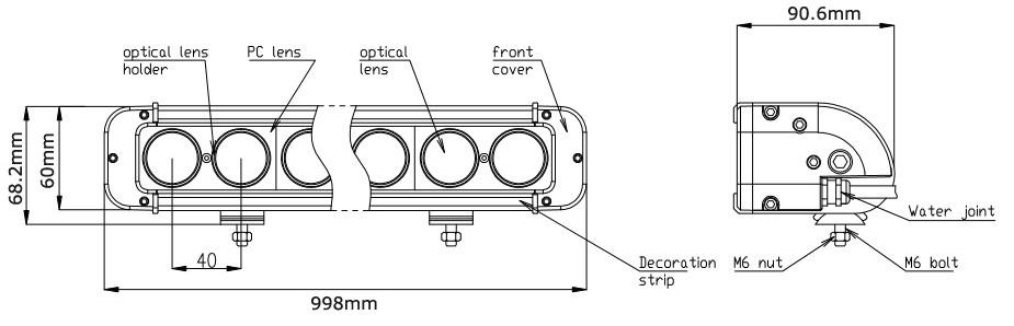 JC10118S-240W 39 Inch Cree Chip 240W LED Light Bar for ATV SUV UTV-2
