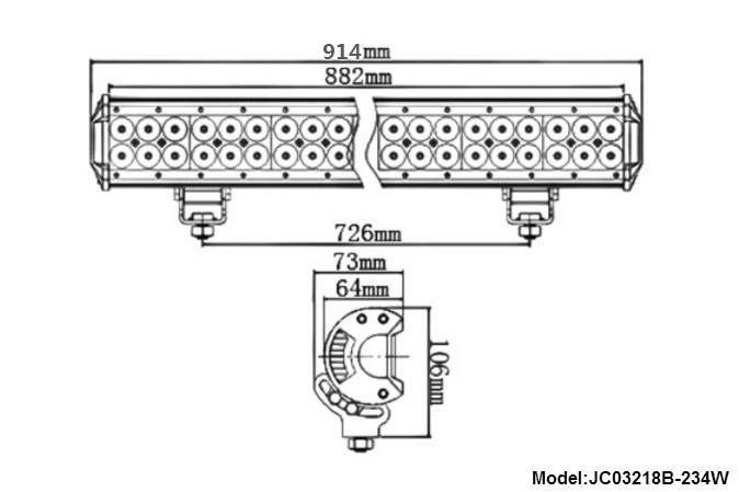 tractor 42 jeep led light bar 17 JINCHU company