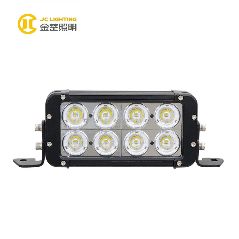 JC10218D-80W High Power Offroad Double Row 8 Inch 80W Cree LED Light Bar for Snowmobile