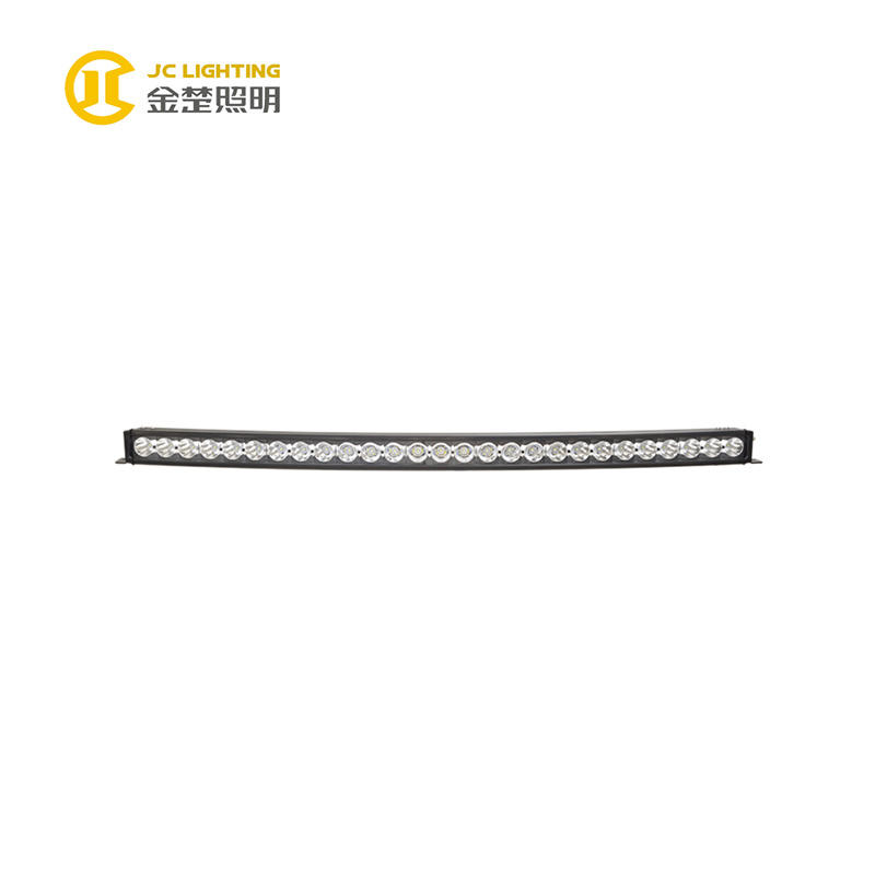 JC10418B-270W Single Row 50 Inch Curved LED Light Bar for Excavator Mining Truck