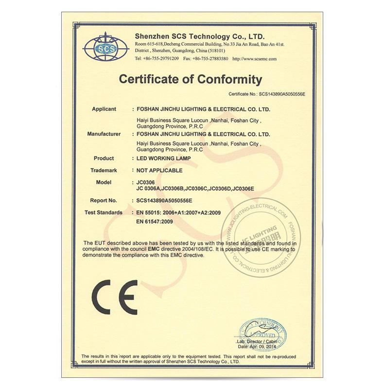 CE Certificate 1-LED Work Light