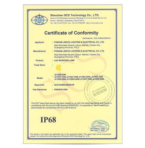 IP68 Certificate 2-LED Work Light