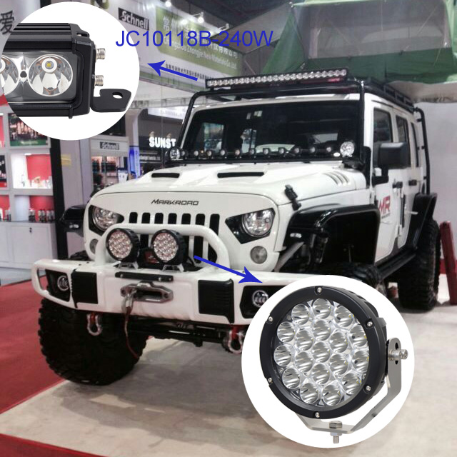 LED Light Bar and LED Driving Light on MAEKROAD