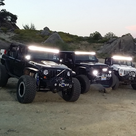 JC03218A LED Light Bar Double Row on Offroad Vehicles