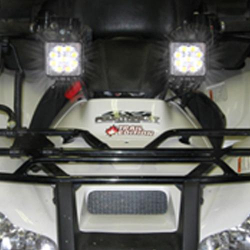 Square LED Work Light 27W On Car
