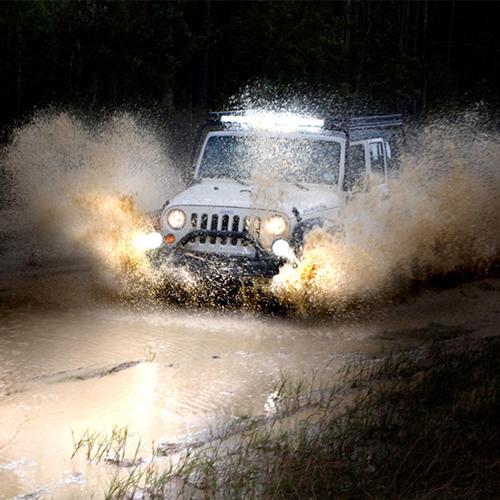 LED Work Lights and LED Light Bars on Jeep