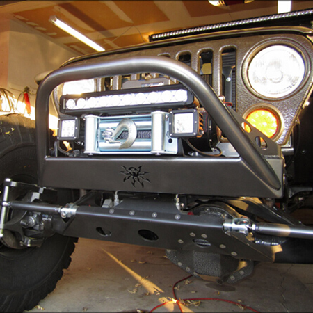 Single Row 100W LED Light Bar on Jeep