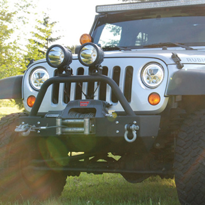 25W LED Cannon Work Light on Jeep