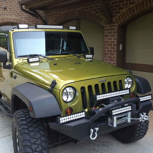 Double Row LED Light Bar on Jeep