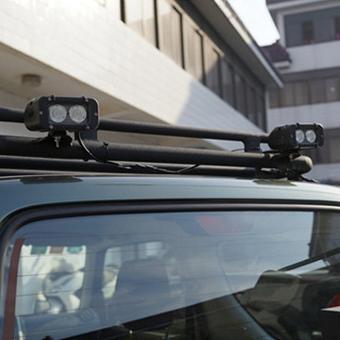 20W LED Light Bar on Car