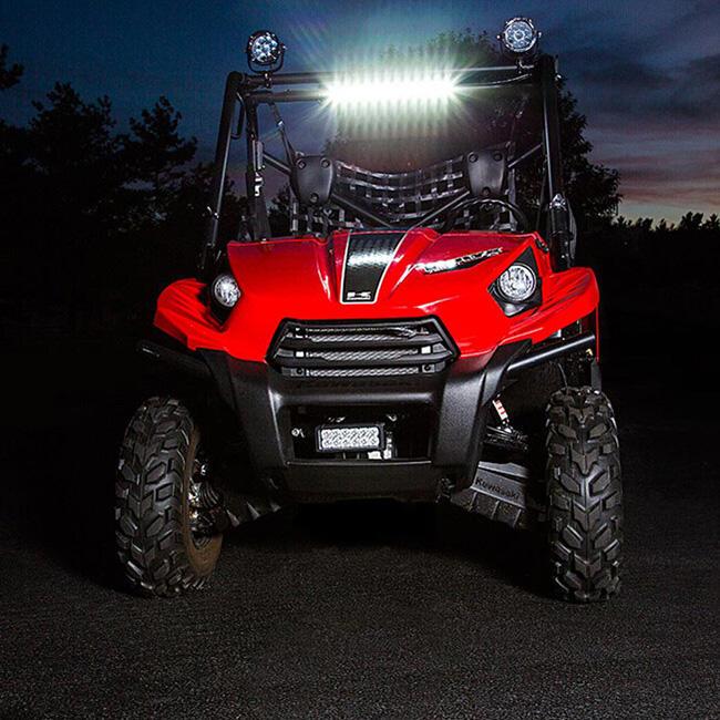 120W 20 Inch LED Light Bar on UTV ATV