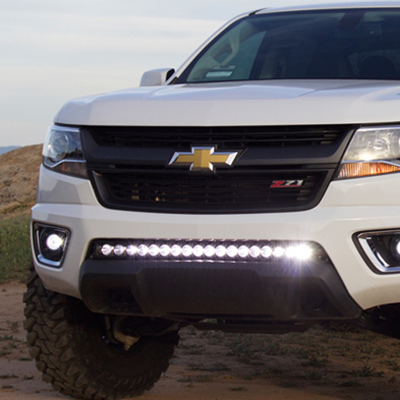 Big Reflector 180W LED Light Bar On Car