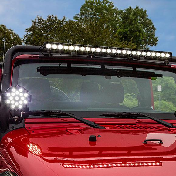 51W LED Driving Light & Single Row 10W LED Light Bar