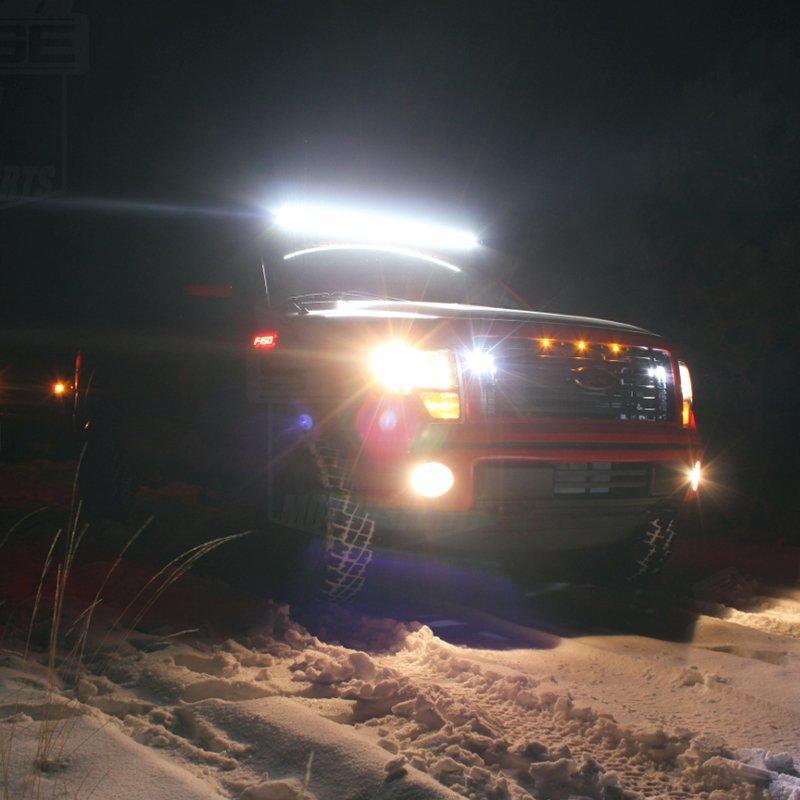 JC10418B Curved LED Light Bar on Jeep