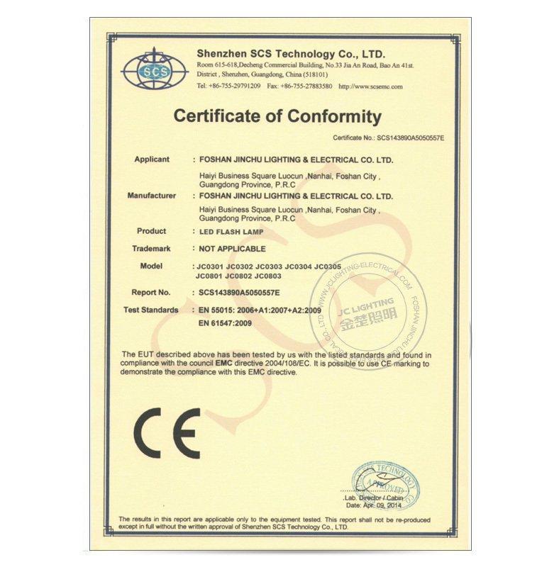 CE Certificate 2-LED Work Light