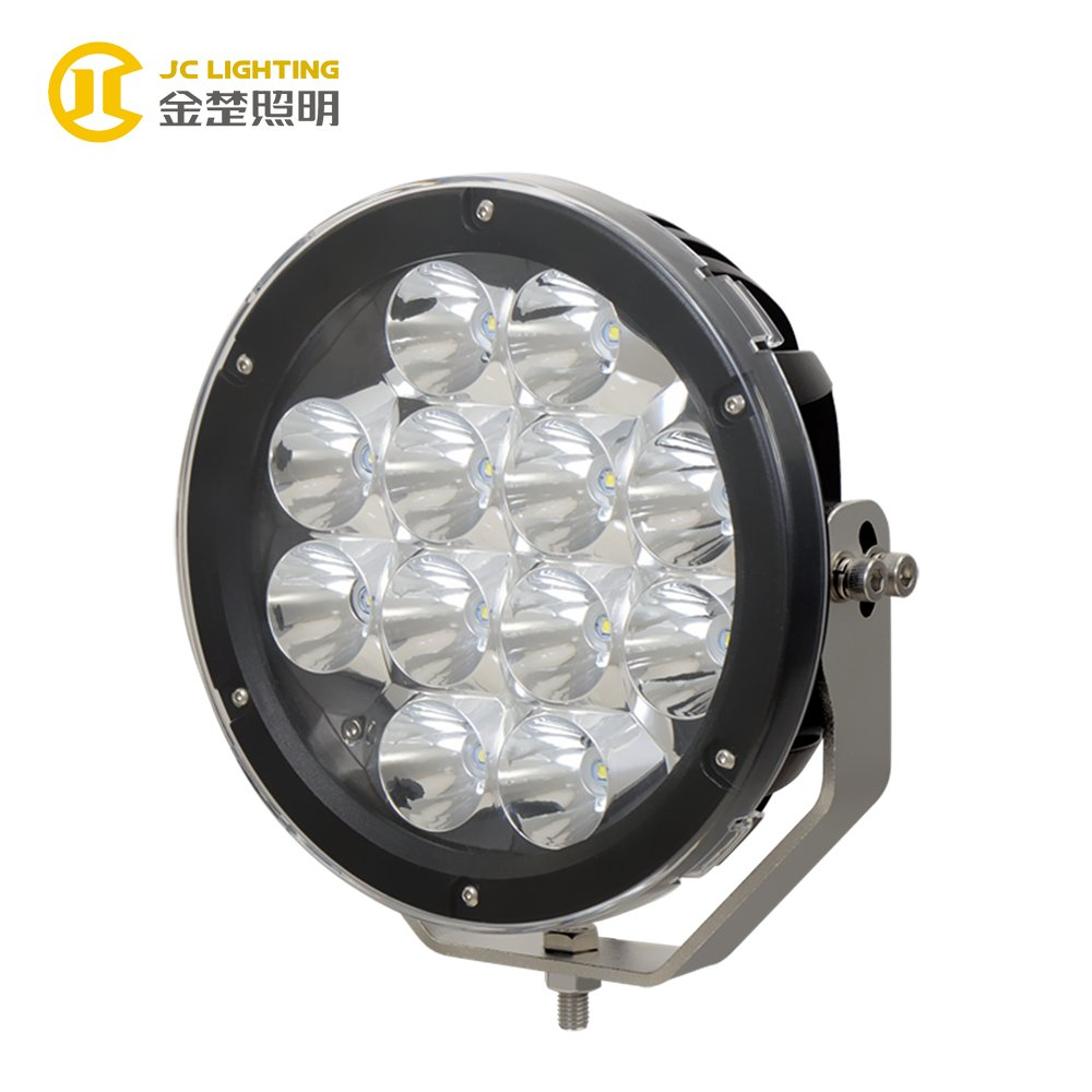 JINCHU JC1012-120W New Coming 9inch 120W Round 12PCS Cree LED Driving Lights With Big Reflector LED Driving Light image142