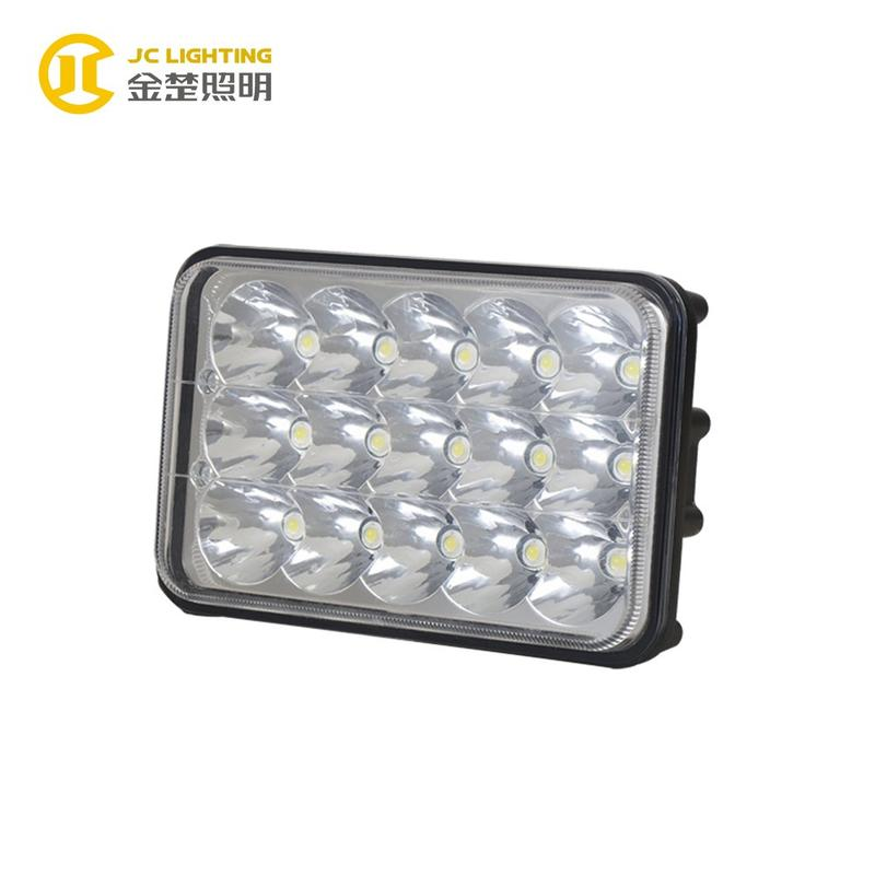 JC0313-45W Hot Selling 4x6 Inches Rectangle 15 PCS 45W LED Spot Light for Jeep Wrangler Work Light
