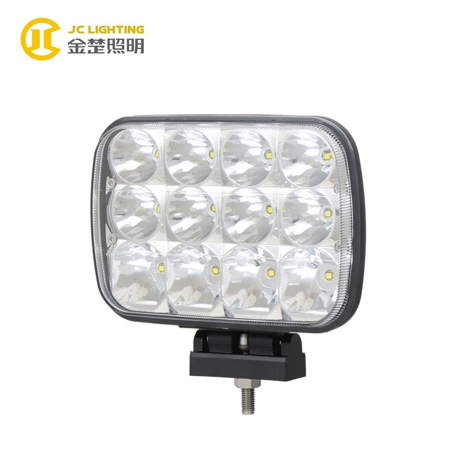 JC0512A-60W Newest IP68 Rectangle Work LED Light 12PCS 12V Cree 60W LED Driving Light