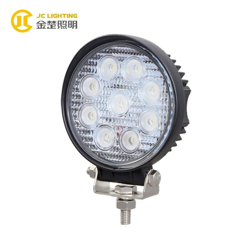 JC0307F-27W Round 27W Offroad LED Work Light for Truck Jeep Tractor Marine Ship Boat