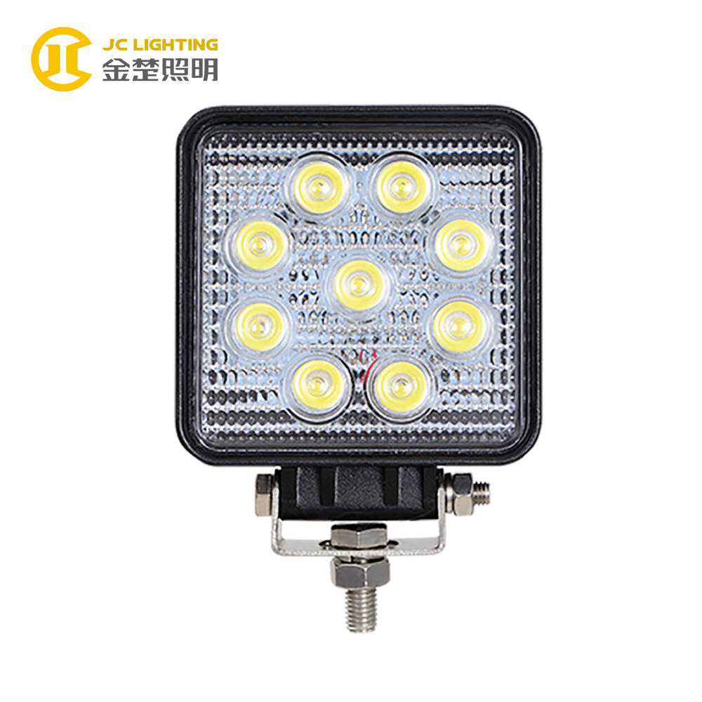 JC0307-27W Square High Quality with E-mark Certificate Spot Flood 27W LED Work Light