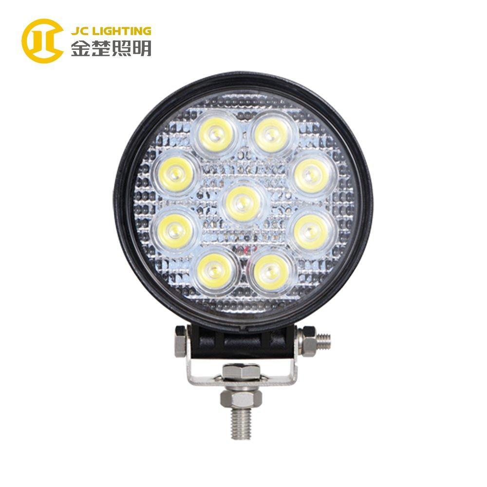 JC0307A-27W E9 Certificate Super Bright Offroad 27W Round led truck light