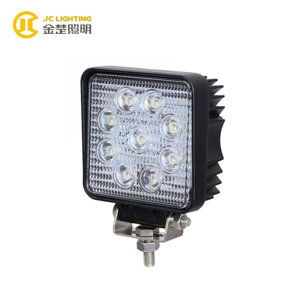 JC0307G-27W  Heavy Duty Portable Commercial Electric Cob LED Work Light IP67 For Jeep 4WD SUV ATV