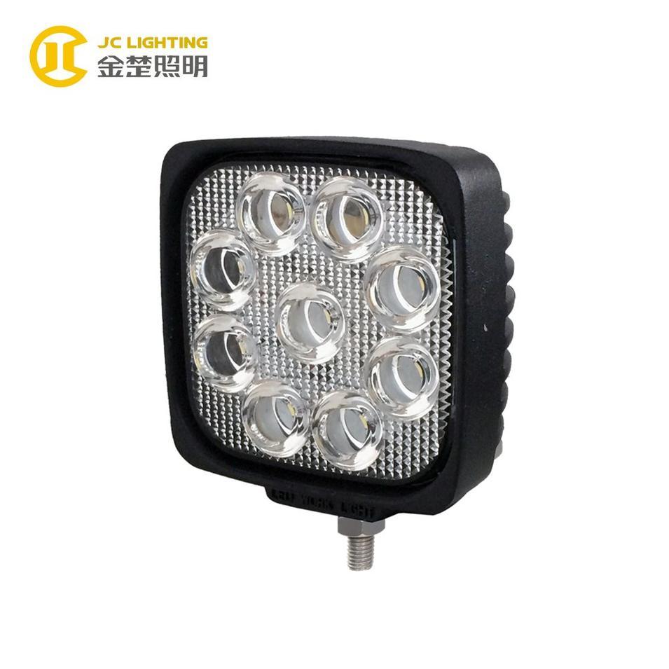 JC0307B-27W Auto LED Lamp Square High Lumens 27W LED Lights 24V for Trucks