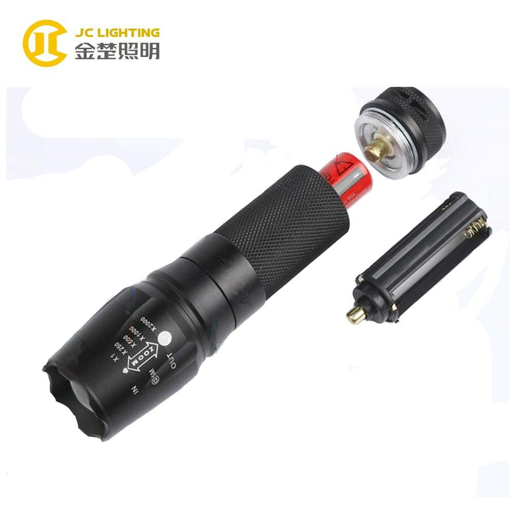 JC0801-8W High Quality LED FlashLight 8w 800lm ZOOM LED Flashlight With CREE Chip