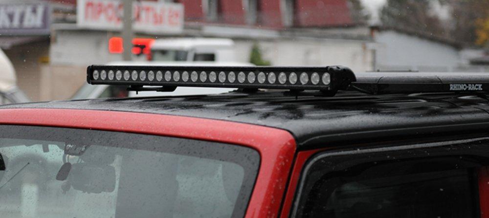 JC10218D Double Row LED Light Bar on Jeep