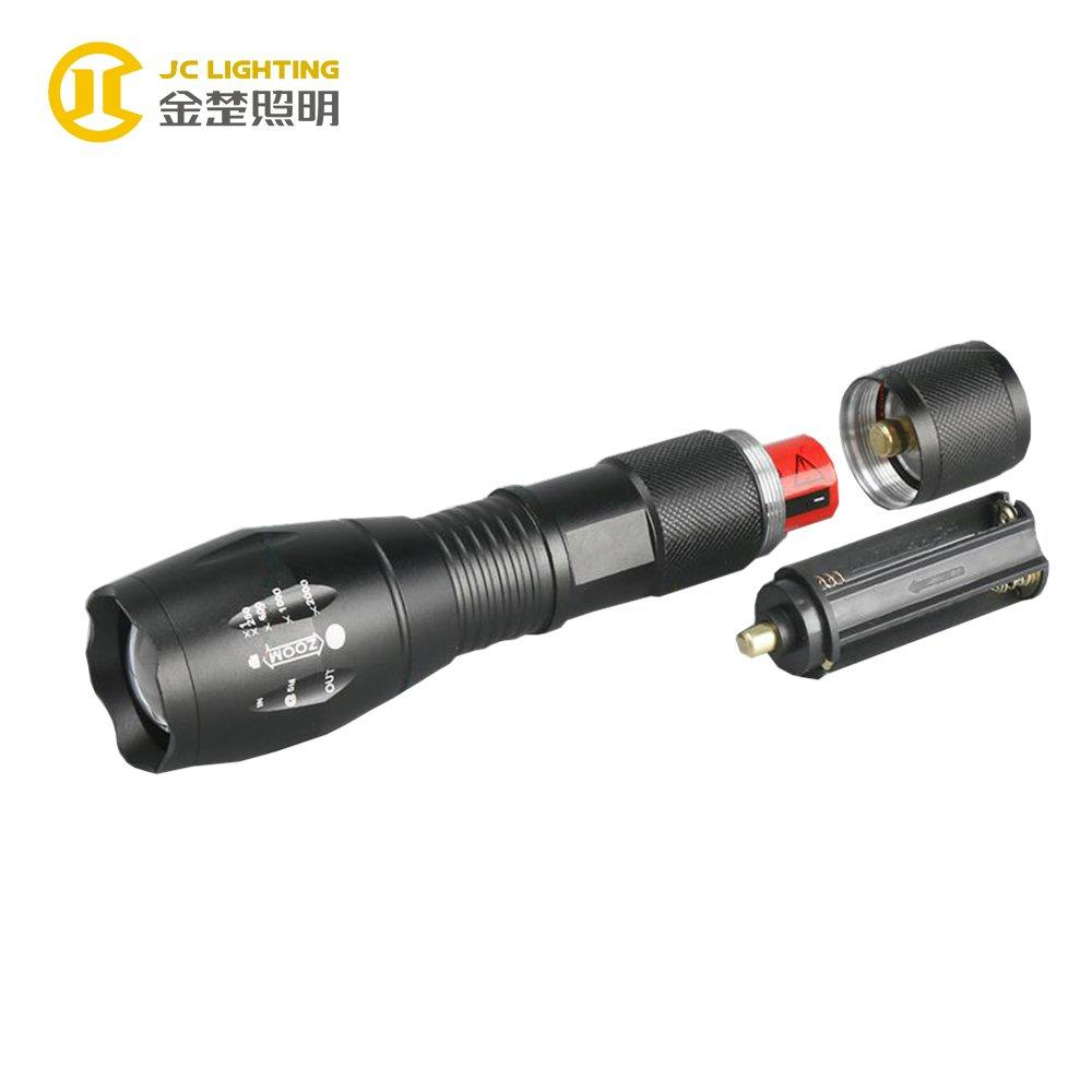 JC0802-8W Cree T6 8W LED Flashlight For Hunting ,Police,Emergtency Torch Light