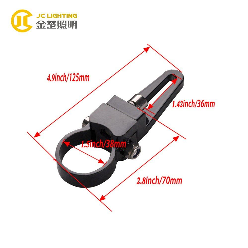 JC002A 1.5 Inch Stainless Steel Screw LED Work Light Mounting Bracket for Off Road Vehicle