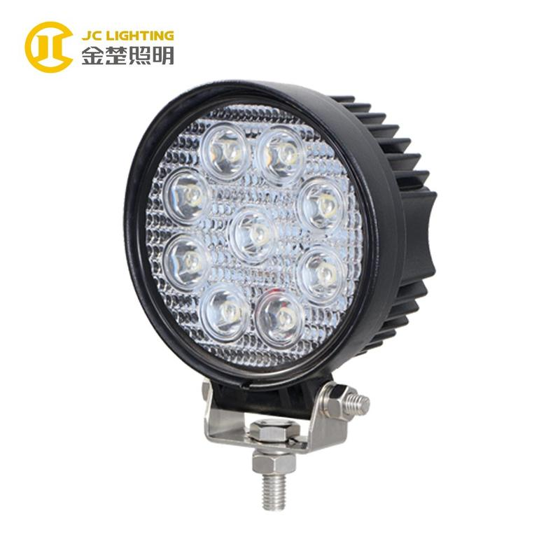 JC0307A-27W  JC0307A-27W E9 Certificate Super Bright 27W Round LED Offroad Truck Light