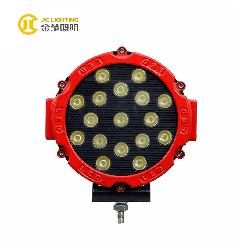 JC0312-51W Favorable Super Bright Round 7 inches 51W LED Work Light for Offroad Truck Heavy Duty