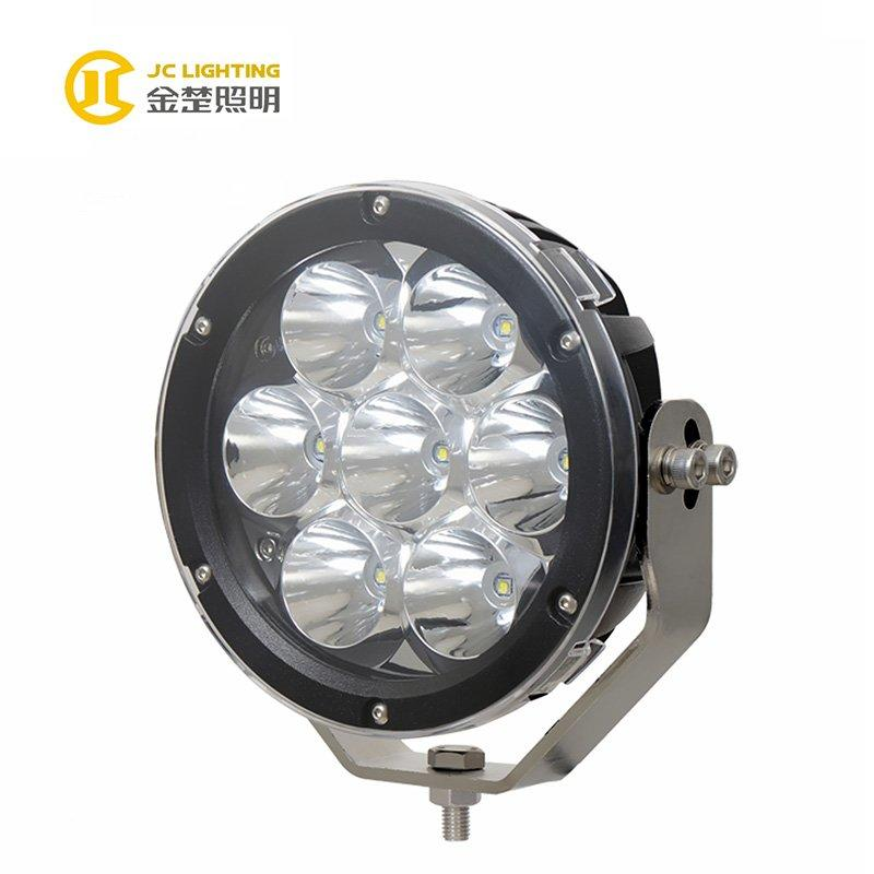 JC1007A-70W Hot Sale 7 inch 70W Round 7PCS Cree LED Driving Light for 4MD SUV